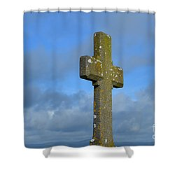 Beautiful Stone Cross In Ireland Shower Curtain