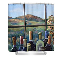 Shower Curtain featuring the painting Beautiful View by Donna Tuten