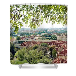 Beautiful View Of Prague Shower Curtain by Ivy Ho
