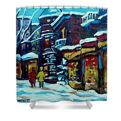 Beautiful Winter Evening Shower Curtain by Carole Spandau