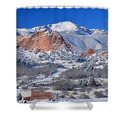 Beautiful Winter Garden Of The Gods Shower Curtain