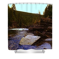Beautiful Yak River Montana Shower Curtain