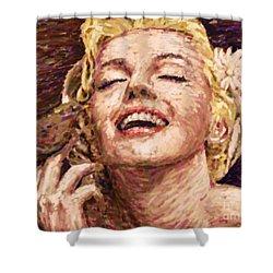 Beautifully Happy Shower Curtain by Atiketta Sangasaeng