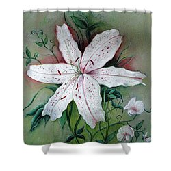 Shower Curtain featuring the painting Beauty For Ashes by Hazel Holland