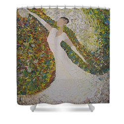 Beauty For Ashes Shower Curtain by Rachael Pragnell