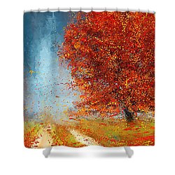 Beauty Of It- Autumn Impressionism Shower Curtain by Lourry Legarde