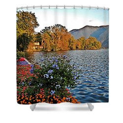 Beauty Of Lake Lugano Shower Curtain