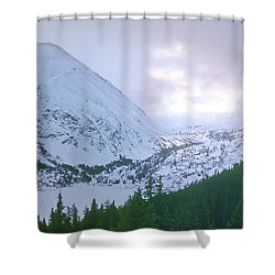 Beauty Of The Rockies Shower Curtain by Kellice Swaggerty