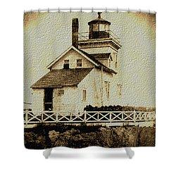 Beaver Harbour Lighthouse Nb Shower Curtain