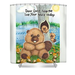 Beaver Shower Curtain by Jerry Ruffin