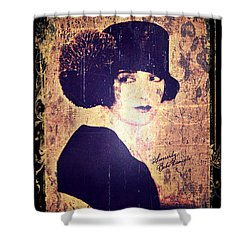 Bebe Daniels - 1920s Actress Shower Curtain by Absinthe Art By Michelle LeAnn Scott