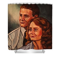 Becky And Ron Yearout Shower Curtain by Kendall Kessler