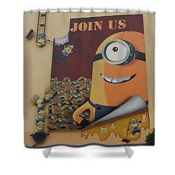 Become A Minion Shower Curtain by David Nicholls