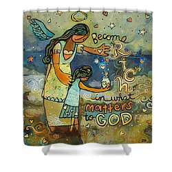 Become Rich In What Matters To God Shower Curtain