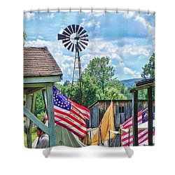 Shower Curtain featuring the photograph Bedford Village Pennsylvania by Kathy Churchman