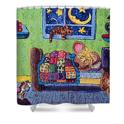 Bedtime Mouse Shower Curtain