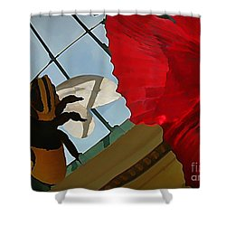 Bee And Flower Shower Curtain by John Malone
