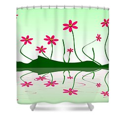 Bee Flowers Shower Curtain