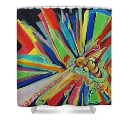 Bee Sting Shower Curtain