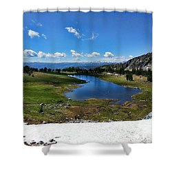 Beehive Basin Cirque Shower Curtain