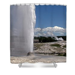 Beehive Geyser - Yellowstone National Park Shower Curtain by Brian Harig