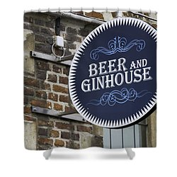 Beer And Ginhouse Shower Curtain by David Freuthal