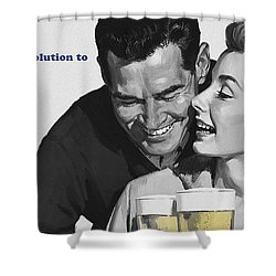 Beer Shower Curtain by Bill Cannon