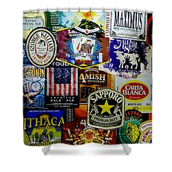 Beer Labels Shower Curtain