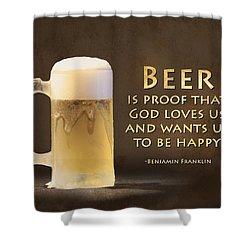 Beer Shower Curtain by Lori Deiter