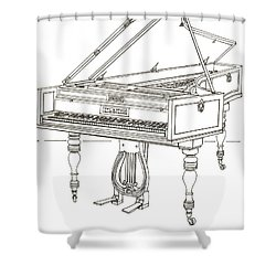 Beethoven's Broadwood Grand  Piano Shower Curtain by Ira Shander