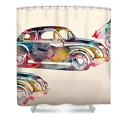 Beetle Car Shower Curtain by Mark Ashkenazi