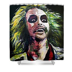 Beetlejuice Shower Curtain by Tom Carlton
