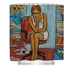 Before Exams Shower Curtain by Xueling Zou
