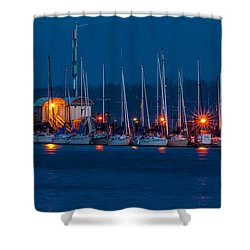 Before Night Fall Shower Curtain by Sabine Edrissi