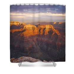 Before Sublime Colors Shower Curtain by Peter Coskun