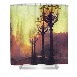 Before Sunrise Shower Curtain by Mo T