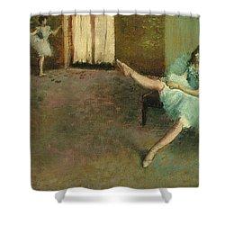 Before The Ballet Shower Curtain by Edgar Degas