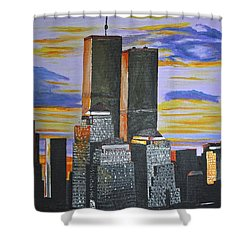 Before The Fall Shower Curtain by Donna Blossom