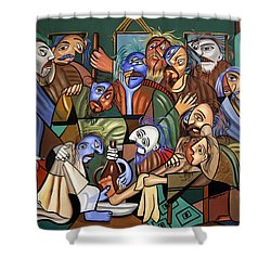 Before The Last Supper Shower Curtain by Anthony Falbo
