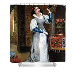 Before The Masked Ball Shower Curtain by Noel Saunier