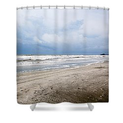 Shower Curtain featuring the photograph Before The Storm by Sennie Pierson
