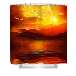 Before The Sun Goes To Sleep Shower Curtain by Gabriella Weninger - David