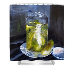 Shower Curtain featuring the painting Before They Are Gone by LaVonne Hand