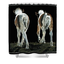 Beginning Line Dancing Shower Curtain