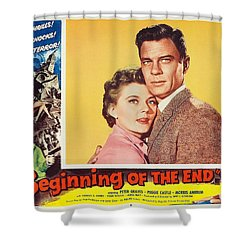 Beginning Of The End 1957 Shower Curtain by Mountain Dreams