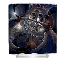 Shower Curtain featuring the digital art Beguiled At Twilight by Casey Kotas