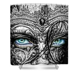 Behind Blue Eyes Shower Curtain