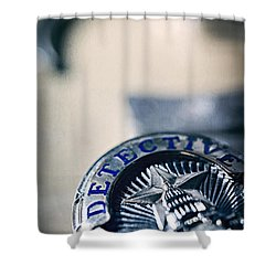 Shower Curtain featuring the photograph Behind The Badge by Trish Mistric