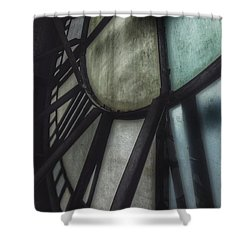 Behind The Clock - Emerson Bromo-seltzer Tower Shower Curtain