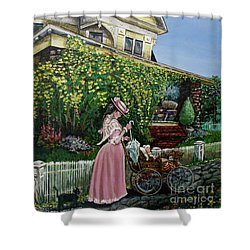 Behind The Garden Gate Shower Curtain